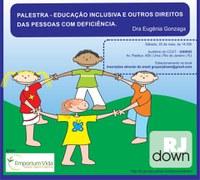 Palestra sobre educação Inclusiva na UNIRIO