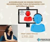 Acessibilidade No Ensino Remoto: Recomendações para Estudantes com Deficiência Visual