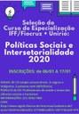 Seleção de curso de especialização IFF/Fiocruz + Unirio