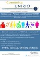 Informativo da UNIRIO tem tema sobre Acessibilidade