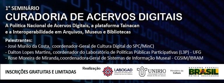 Seminário inaugura as atividades do Laboratório de Preservação e Gestão de Acervos Digitais e do Grupo de Pesquisa Memorável Samba (Imagem: Divulgação)