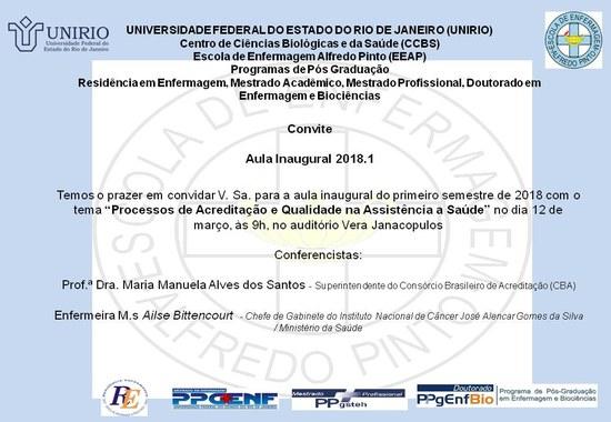 Convite aula inaugural EEAP (Imagem: Divulgação)