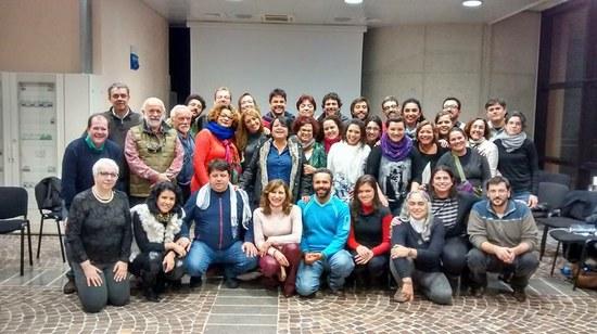 Participantes do Laboratório Ítalo-Brasileiro de Formação, Pesquisa e Práticas em Saúde Coletiva (Foto: CRI)