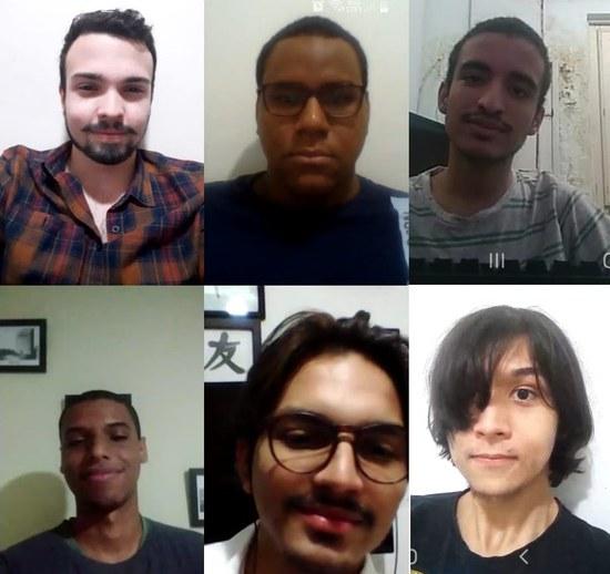 """Equipe do projeto """"Radar do Preconceito"""", idealizado por Nathan Neves (embaixo, à esquerda)"""