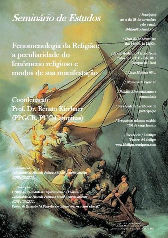 folder do seminário sobre fenomenologia da religião