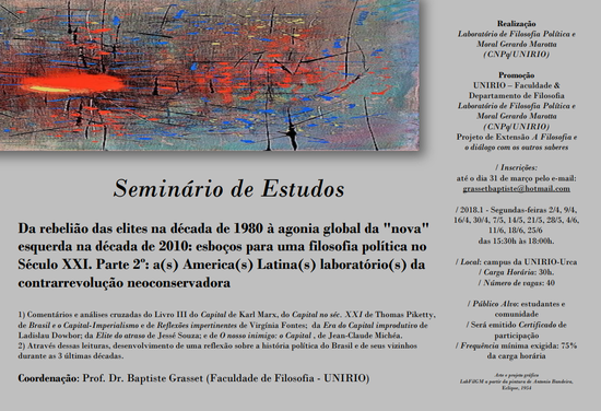 Folder seminário (Imagem: Divulgação)