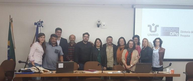 Parte da equipe da DPQ e os avaliadores do CNPq (Foto: DPQ)