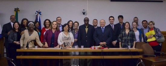 Reunião definiu o desenvolvimento de projetos pedagógicos que estabeleçam os termos de cooperação entre UNIRIO e UP (Foto: Comso)