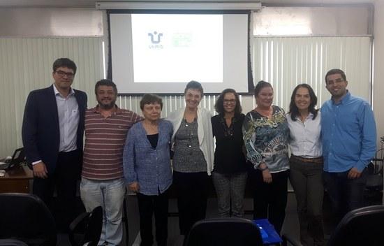 Foto de registro da visita dos avaliadores do CNPq à Diretoria de Pesquisa