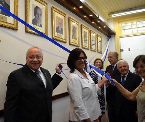 Da esquerda para a direita: Luiz Pedro San Gil Jutuca; Sônia Kaminitz; Carmen Saramago; Pietro Novellino; Sérgio Magarão e Malvina Tuttman (Foto: Comso)