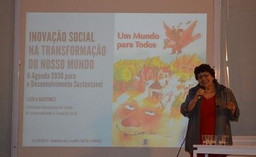 Lucila é consultora internacional em gestão de sustentabilidade e inovação social para a ONU/UNICEF (Foto: Comso)