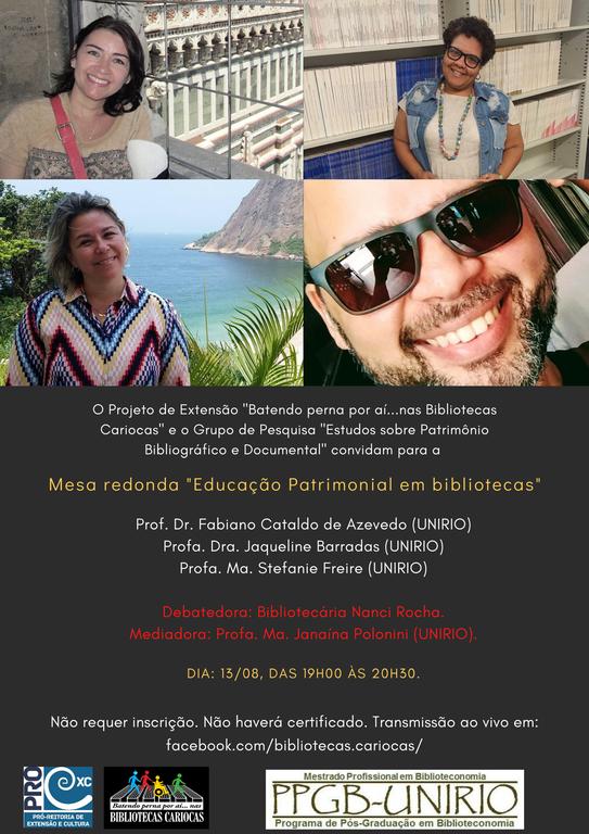 Mesa Educação patrimonial nas bibliotecas cariocas