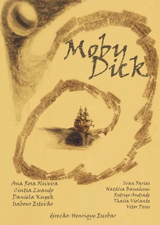 Cartaz da peça 'Moby Dick'.