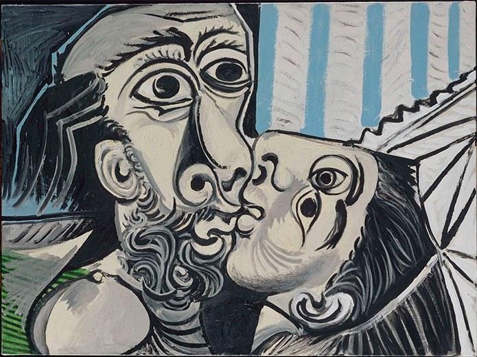 Obra 'O Beijo', de Pablo Picasso, 1969 (Imagem: Divulgação)
