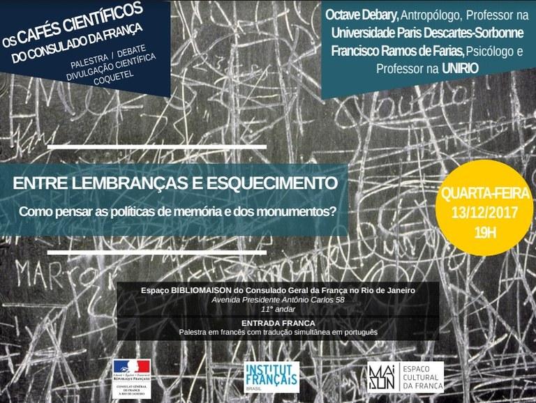 Octave Debary ficará na UNIRIO até abril de 2019, onde desenvolverá atividades do projeto 'As políticas da memória: usos do tempo. Museus, artes e espaços urbanos' (Imagem: Divulgação)