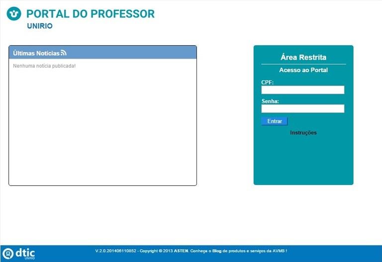 Página de entrada do Portal do Professor: mais clara e com contraste de cores (Imagem: Reprodução)