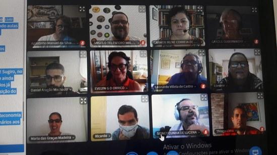 Tela com alguns dos participantes da reunião