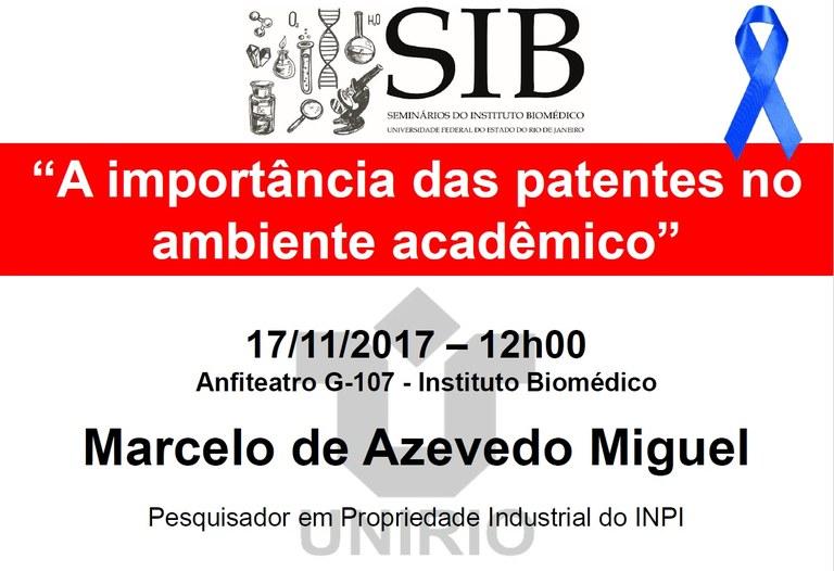 Pesquisador do INPI falará sobre patentes no meio acadêmico (Imagem: Divulgação)