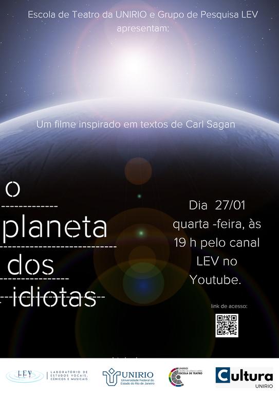 Cartaz Planeta dos idiotas