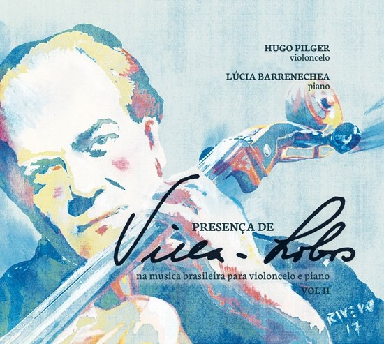 Cd completa a integral de obras para violoncelo e piano de   Villa-Lobos, que teve início com o primeiro volume, lançado em 2013 (Imagem: Divulgação)