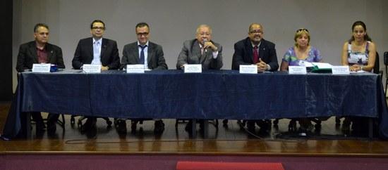 Dirigentes da UNIRIO destacaram o sucesso do evento e a qualidade dos trabalhos apresentados (Foto: Comso)