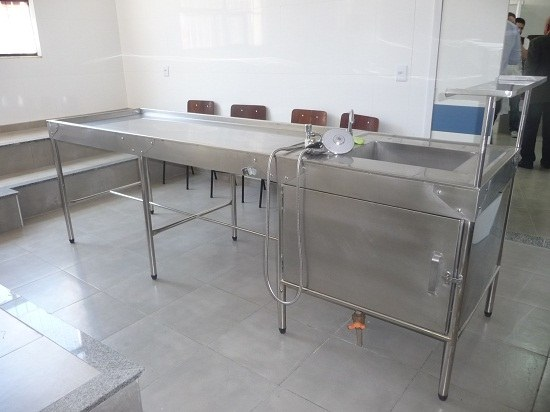 Uma das salas utilizadas para os estudos da anatomia humana