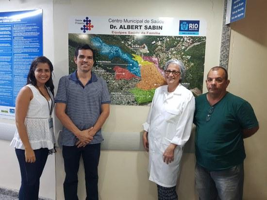 Visita resultou no doação de 200 máscaras para o CMS da Rocinha