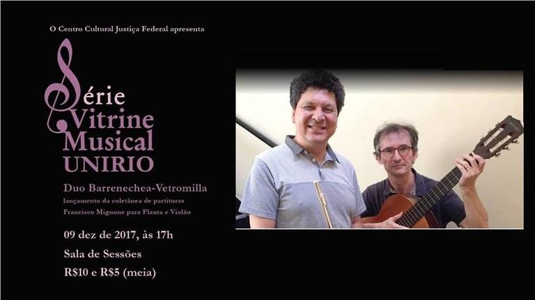Duo Barrenechea-Vetromilla apresentará repertório com obras brasileiras para flauta e violão (Imagem: Divulgação)