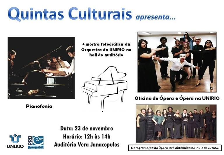 Quintas Culturais 23 de novembro