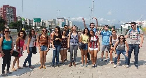 Alunos da disciplina Educação Especial no Parque Olímpico (Foto: Divulgação)