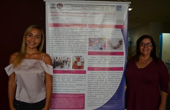 Bolsista Mariana de Souza e a Professora Orientadora Rosane Melo (Curso de Enfermagem) - Foto: Comso