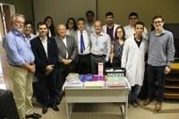 Dirigentes da UNIRIO se reuniram com equipe de oftalmologia nesta terça-feira, dia 13 (Foto: Ebserh/HUGG)