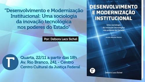Capa do Livro  Desenvolvimento e Modernização: uma Sociologia da Inovação Tecnológica nos Poderes do Estado.