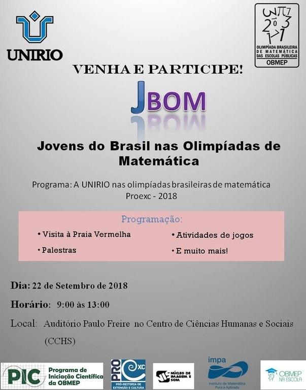 Cartaz Encontro JBOM (Imagem: Divulgação)