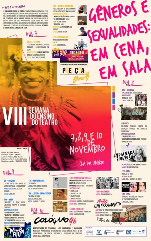 flyer divulgação semana teatro