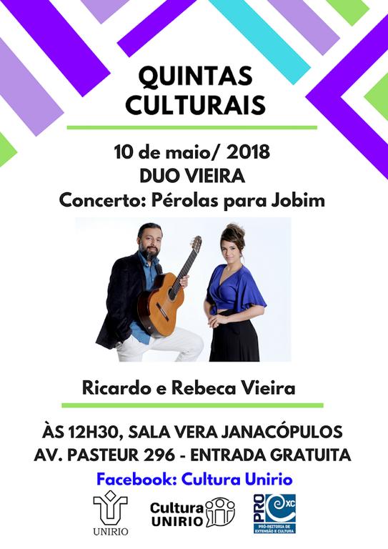 Cartaz Quintas Culturais Duo Vieira