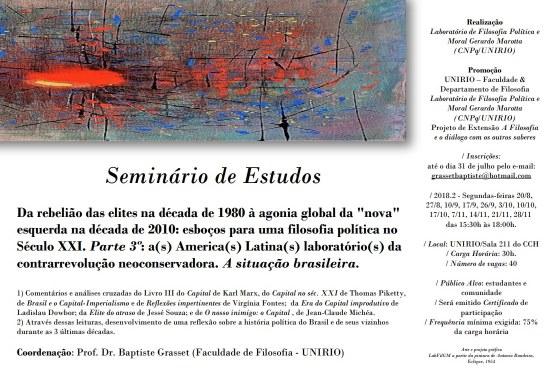Folder do Seminário de Filosofia e Política