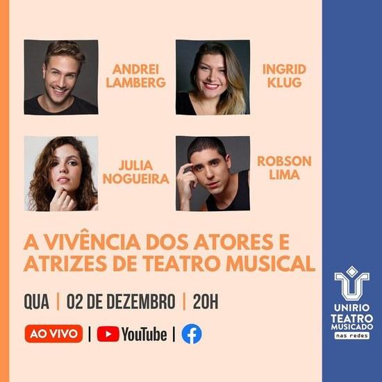 Live do projeto Teatro Musicado 2 dez
