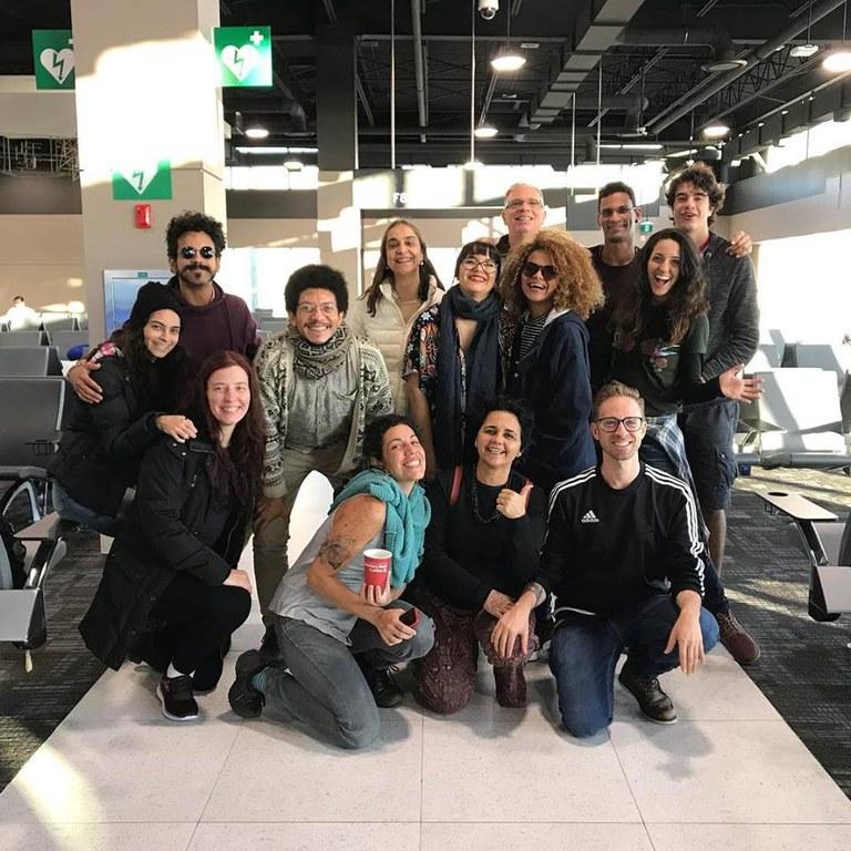 Participantes do intercâmbio com a Universidade de Michigan (foto: reprodução Facebook Teatro em Comunidades)