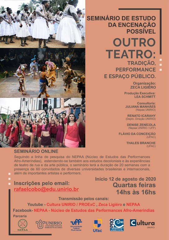 Seminário Outro Teatro tem início nesta quarta, 12 de agosto