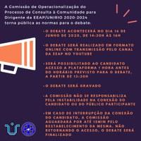 Consulta a Comunidade para Gestão da EEAP  2020-2024 Normas para o Debate