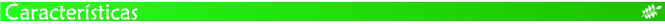 Barra verde - características