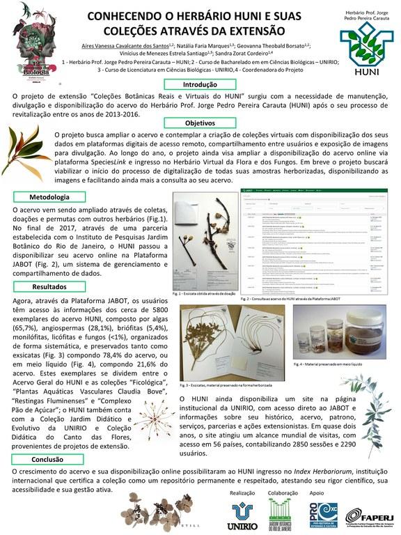 Pôster XII Sermana de Biologia UNIRIO 2018 - Coleções