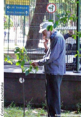 Prof. Carauta no Jardim do MN - 90 anos