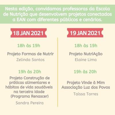 Programação EntrevisEANdo 18 e 19 jan/2021