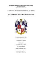 VI Jornada de Estudos Medievais da UNIRIO