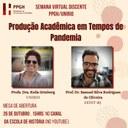 I Semana Virtual Discente da Pós-Graduação em História da UNIRIO