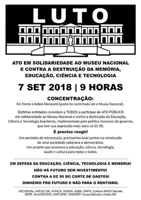 ATO LUTO MUSEU NACIONAL
