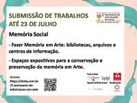 5º Seminário de Informação em Arte - Submissão Aberta até 23 de julho
