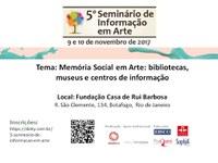 5º Seminário de Informação em Arte